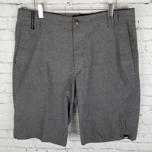 VANS | flat front grey shorts